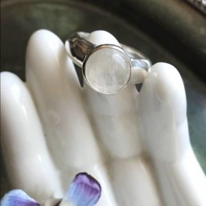 Jewelry - Rainbow Moonstone Sterling Silver Ring